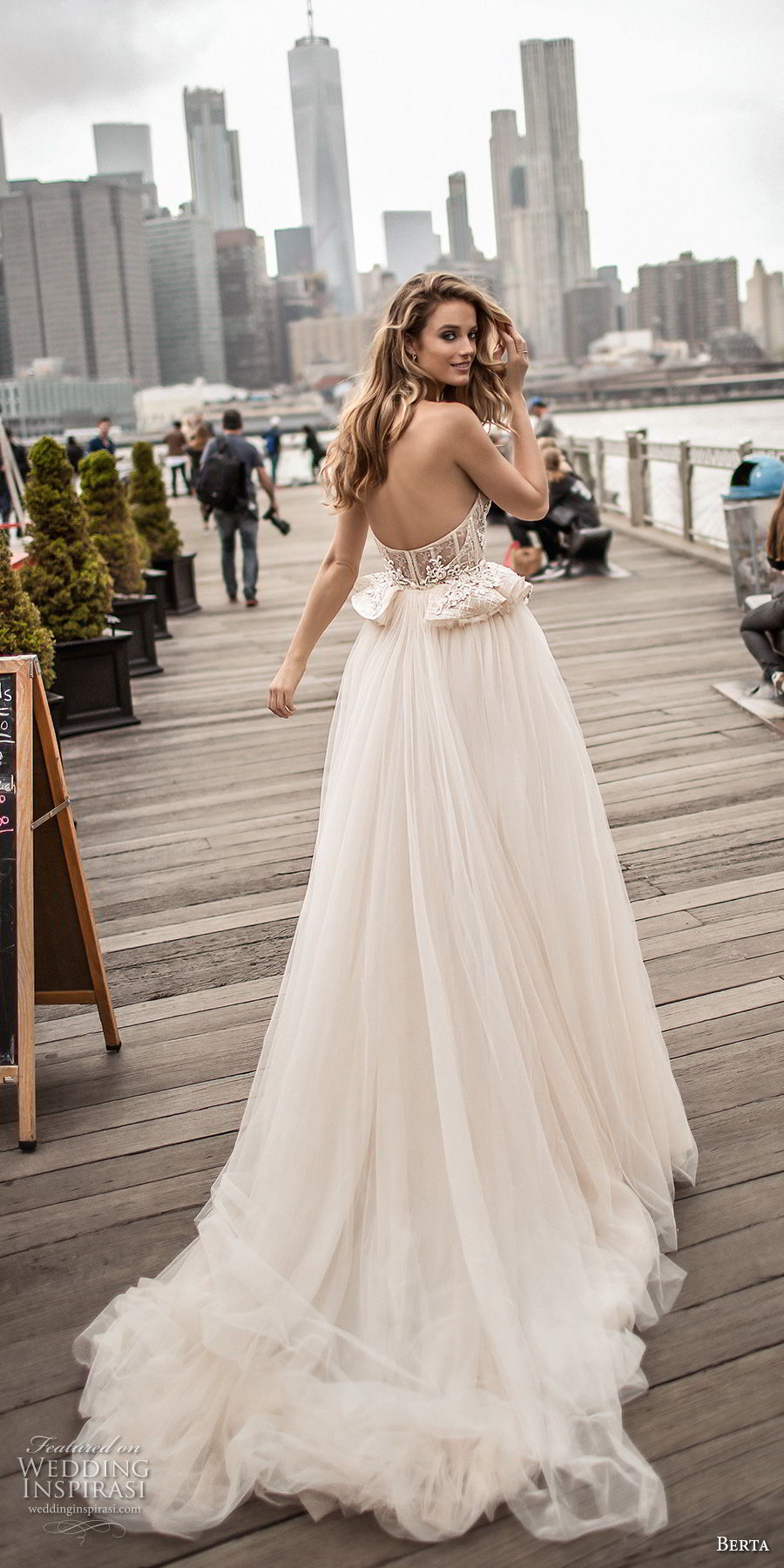 5e3547fb644f9 berta spring 2018 bridal strapless sweetheart neckline heavily embellished  bodice bustier sexy romantic ball gown wedding