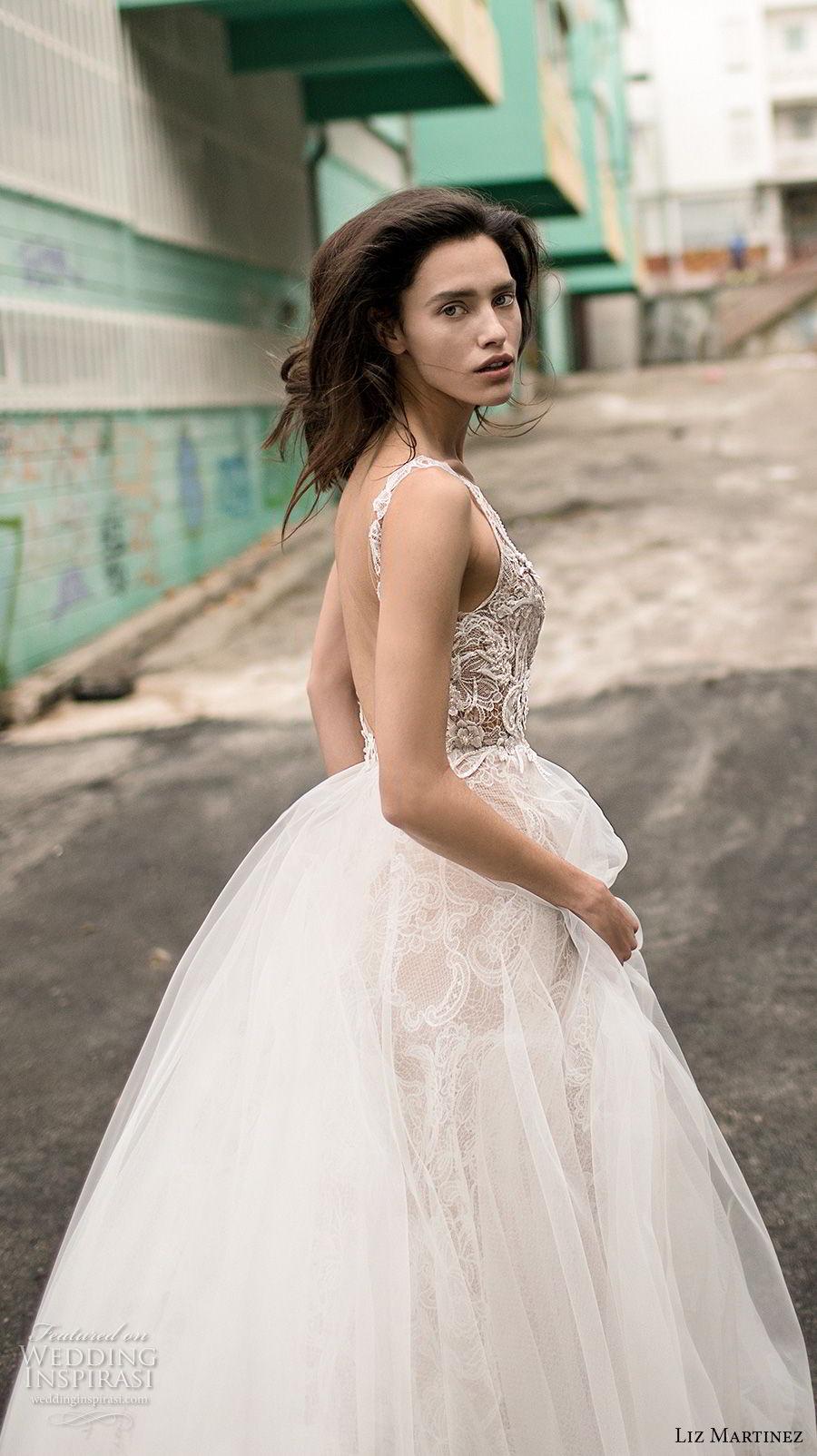liz martinez 2018 lisbon sleeveless with strap sweetheart neckline heavily embellished bodice romantic sexy a line wedding dress open back chapel train (4) zsdv