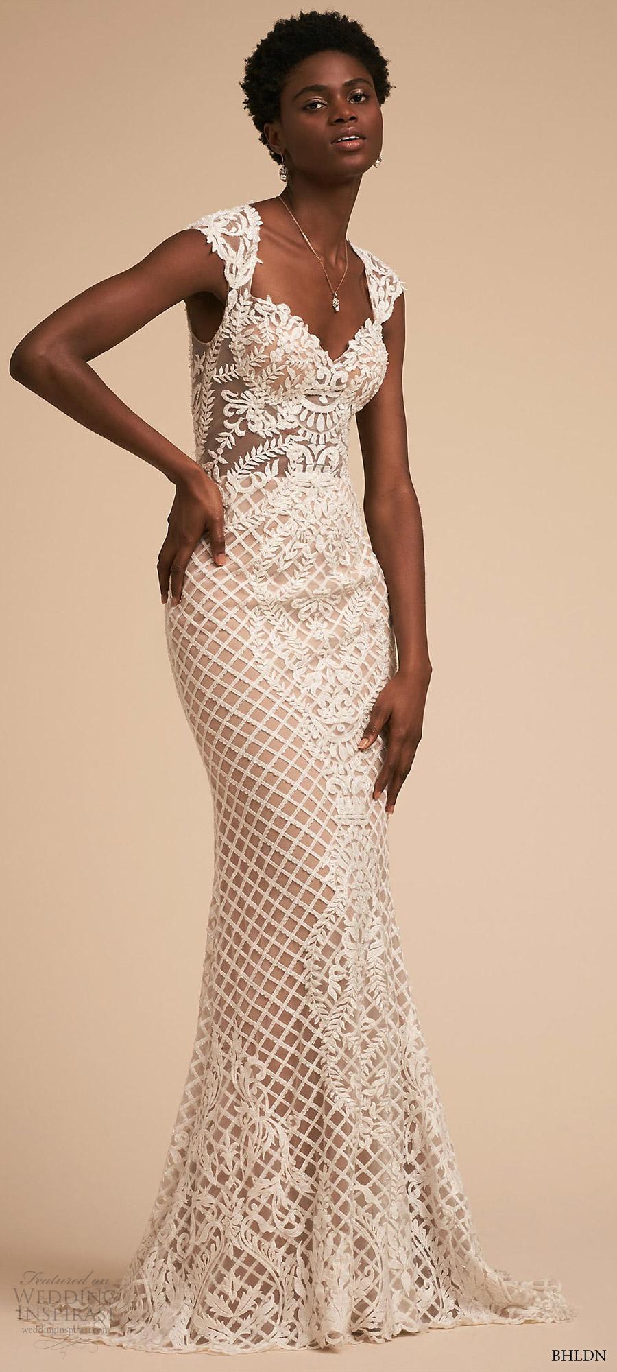 f4e666155 bhldn 2018 bridal trends sleeveless cap sleeves sweetheart sheath lace  wedding dress (sansa) mv