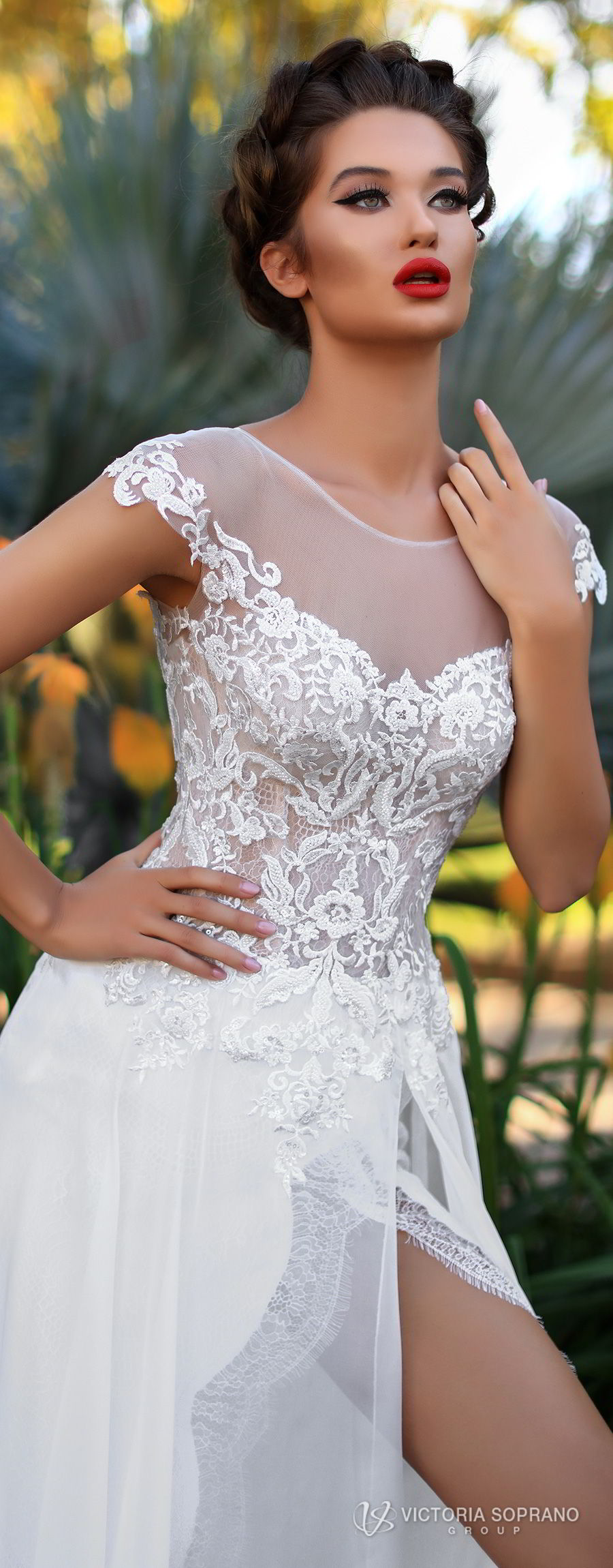 b1dd7be0bd99f A Line Lace Wedding Gown With Cap Sleeves And Sweetheart Neckline ...