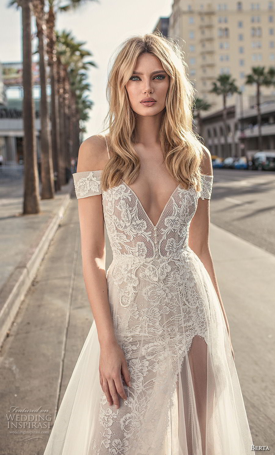 berta 2019 muse bridal spaghetti strap cold shoulder v neck full embellishment romantic soft a line wedding dress scoop back sweep train (1) zv