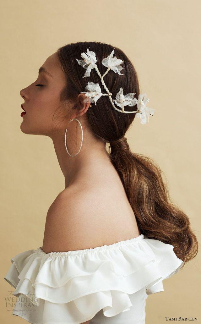 """tami bar-lev's """"high by the beach"""" bridal hair accessories"""