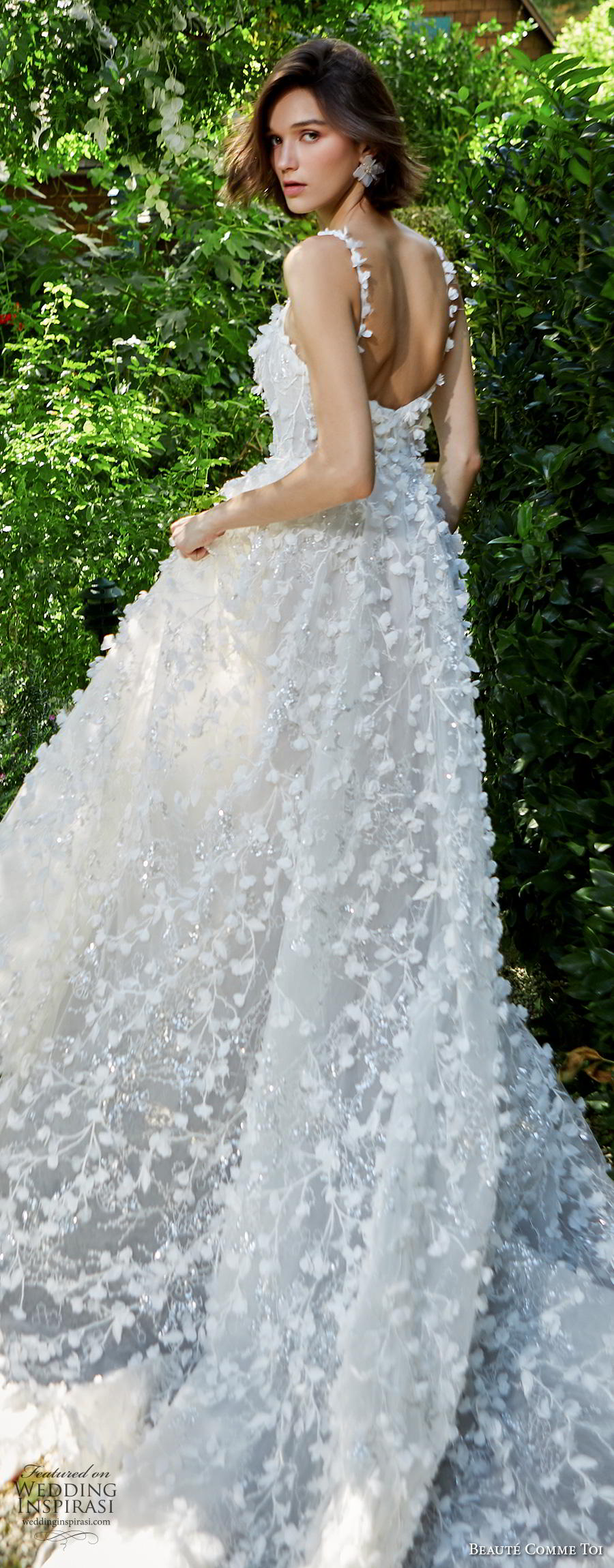 And Line Neckline Sweetheart Dress Fit And Embellished Lace Soft Tulle Wedding Flare