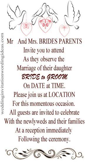 Informal Wedding Invitation Wording