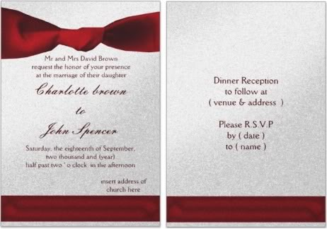 Mordern Red Wedding Invitations