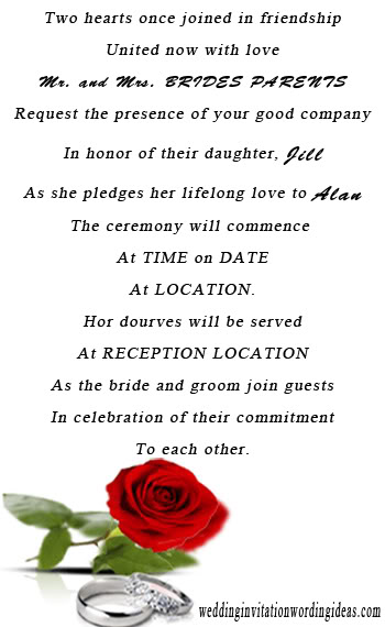 Wedding Invitation Wording Sles Unique And Elegant Informal Pacfilefo Choice Image