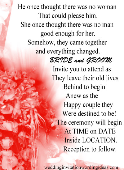 Wedding Invitations Hosted By Bride And Groom Invitation