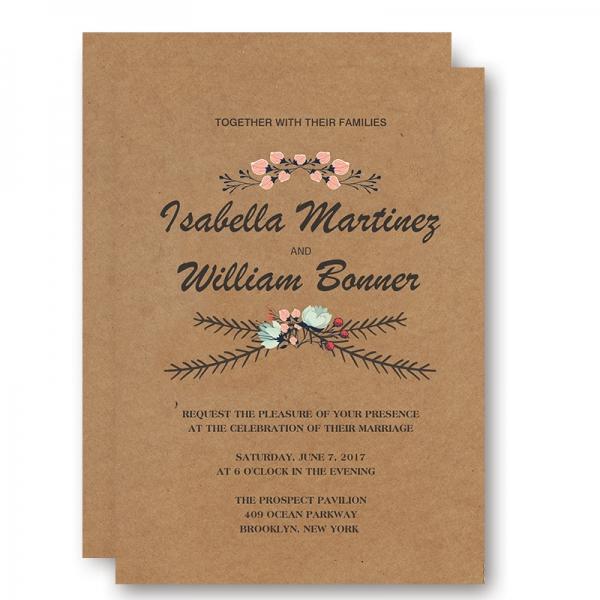 Rustic Fl Fall Wedding Invitation Wip043