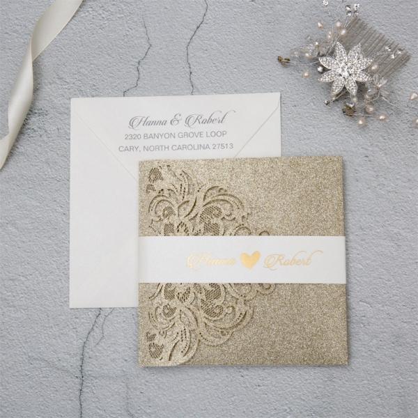 Luxury Champagne Gold Glitter Wedding