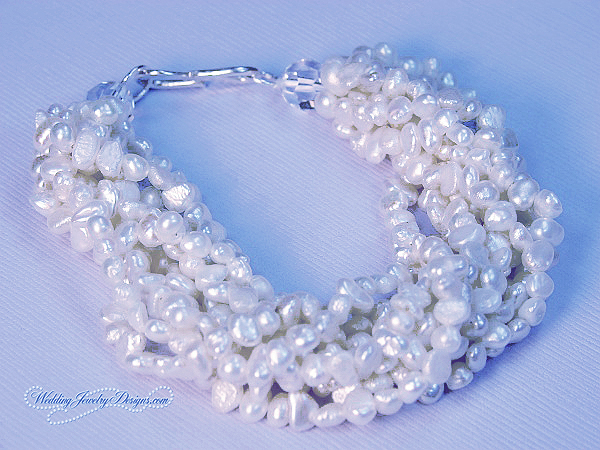 Pearl Beach Bridal Bracelet Veronica Beach Bridal