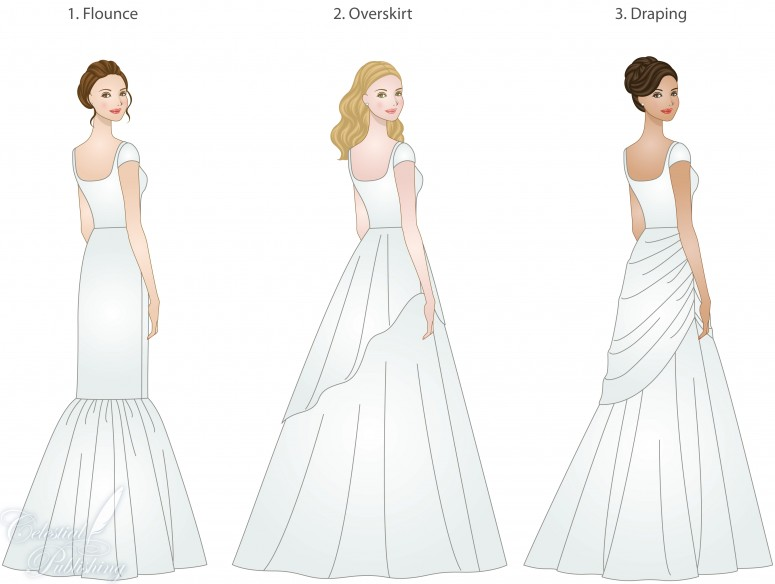 Wedding Dress Skirt Types Shapes Overlays And Textures
