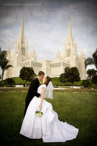 LDS Bride, LDS Groom, LDS San Diego Temple