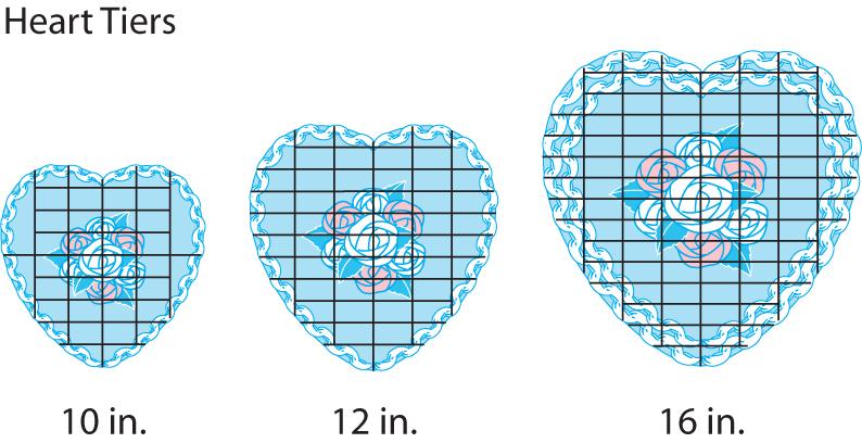 How to cut heart shaped wedding cake