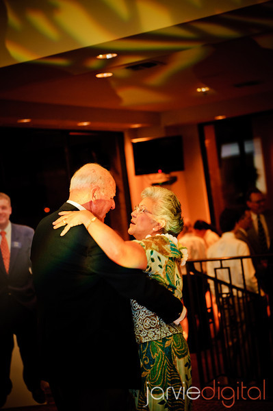 Generations dance for an LDS wedding reception
