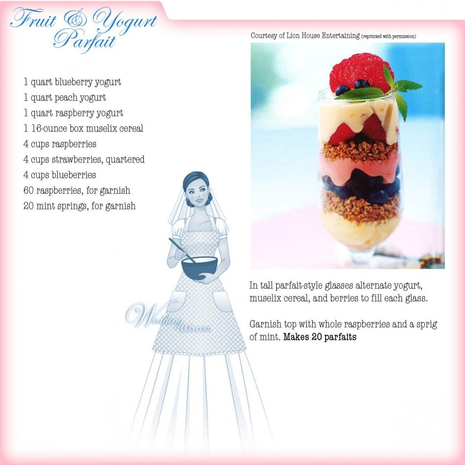 Fruit and Yogurt Parfait, Recipe Courtesy of Lion House Entertaining