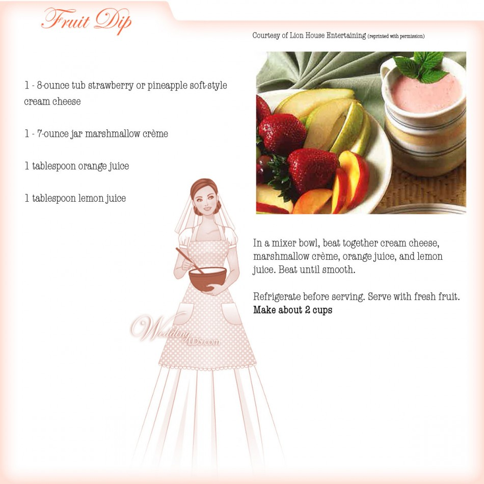 Fruit Dip, Recipe Courtesy of Lion House Entertaining