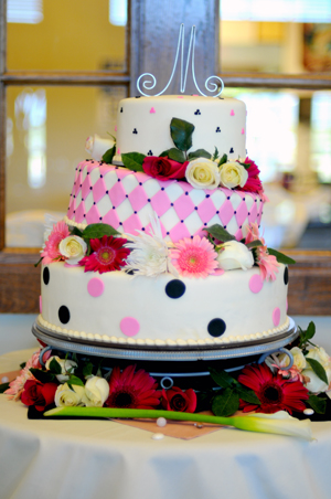 how to display a wedding cake during an LDS reception