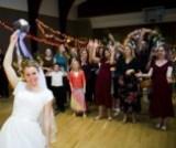 LDS bride bouquet toss