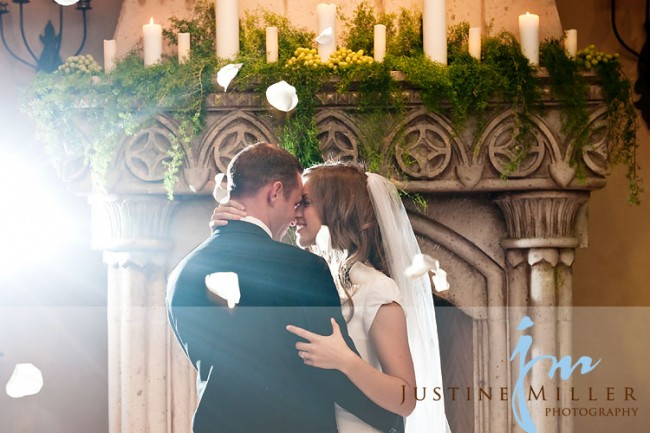 LDS bride and groom, first dance
