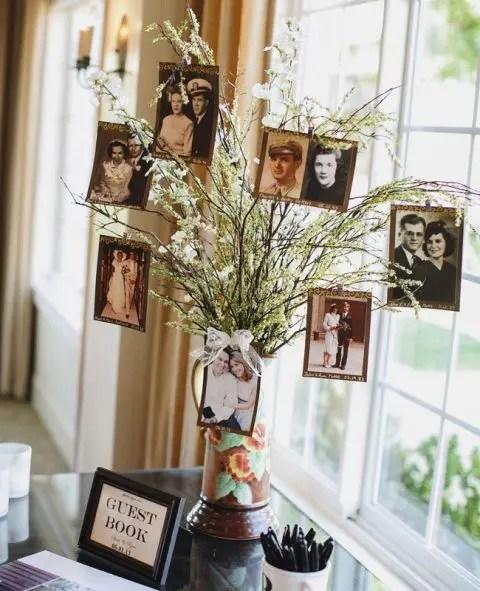 Small Family Wedding Ideas: 22 Cute Family Tree Ideas For Your Wedding Decor
