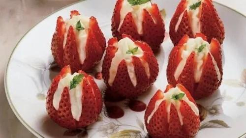 Strawberry Wedding Desserts