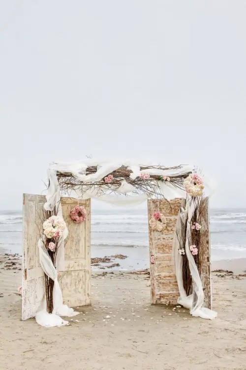 Creative Wedding Reception Backdrop
