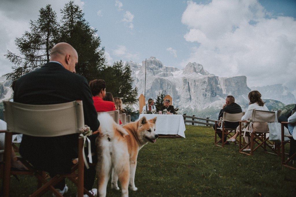 Freie Trauung in den Bergen Col Pradat Hütte