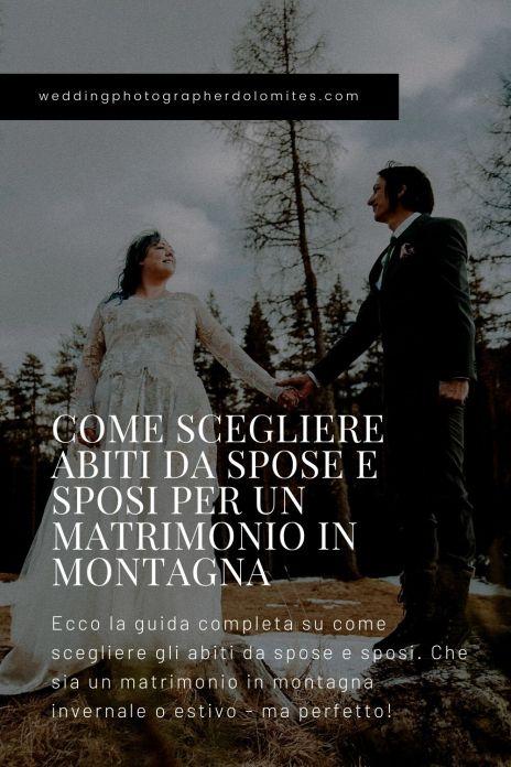 COME SCEGLIERE ABITI DA SPOSE E SPOSI PER UN MATRIMONIO IN MONTAGNA