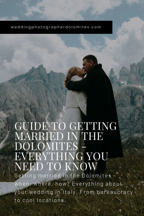 Guide To Getting Married In The Dolomites - Everything You Need To Know