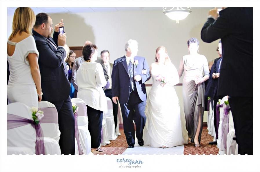 Bright flash ruins wedding photo