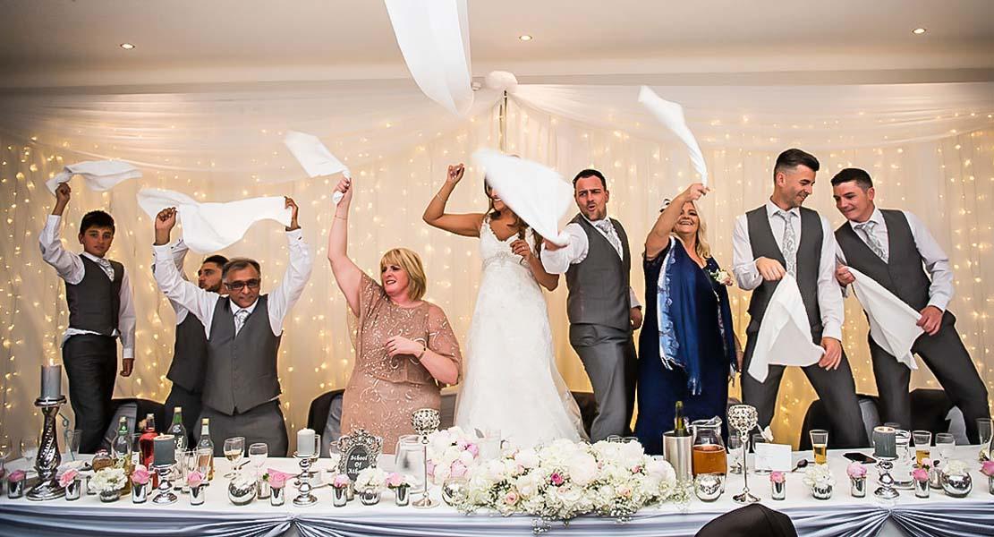 reception at Stirk House Hotel wedding