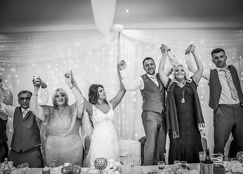 Happy at Stirk House Hotel wedding