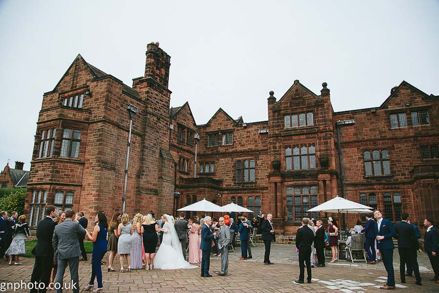 Guests mingling at Thornton Manor