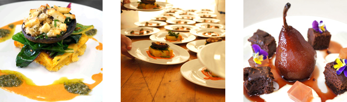 Amazing plated vegan wedding food from Cashew Catering