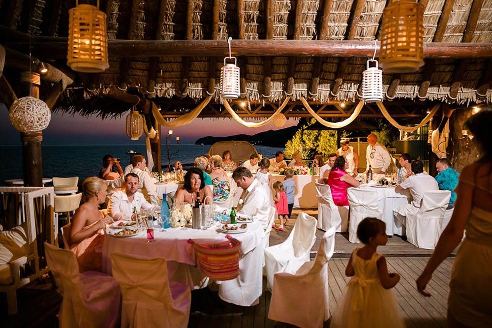 Theros Beach Bar Wedding Venue Santorini Wedding Venues Amp Locations