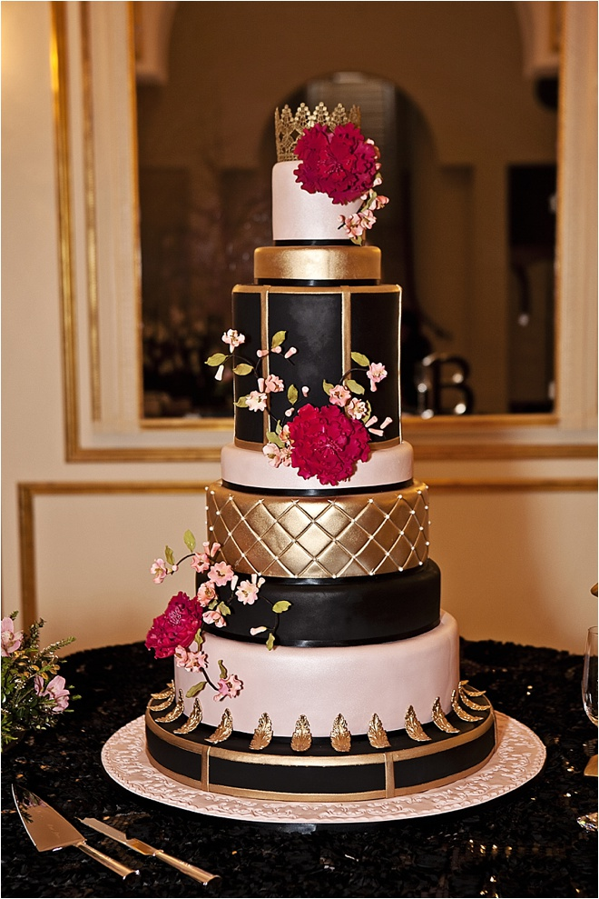 And Wedding Gold Pink Black