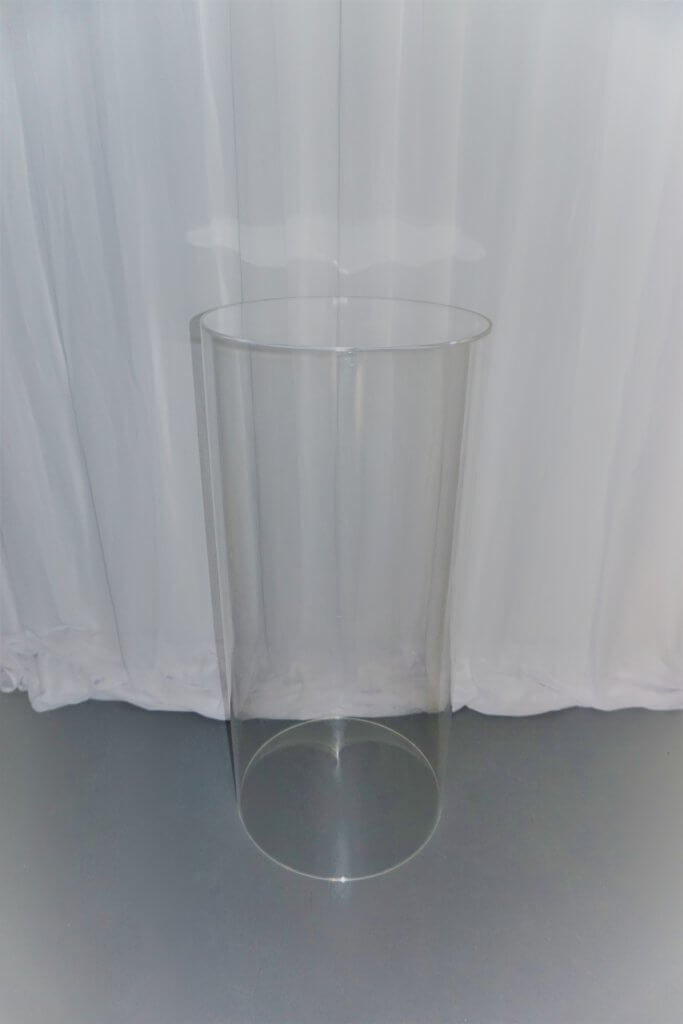Clear Acrylic Round Cylinder Plinths Weddings Of Distinction
