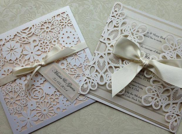 Bespoke Custom Laser Cut Wedding Invitations