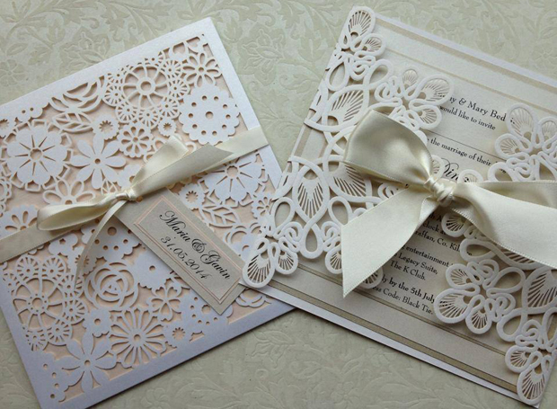 Laser Cut Wedding Invites Helens Paperie