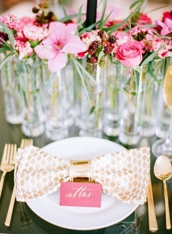 bow-rosa-nombre-card-Ideas de la boda