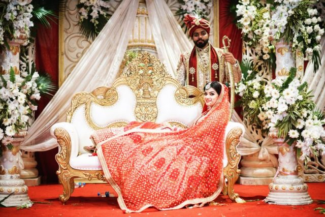 decor and bride and groom Lucknow wedding Chancellor club wedding