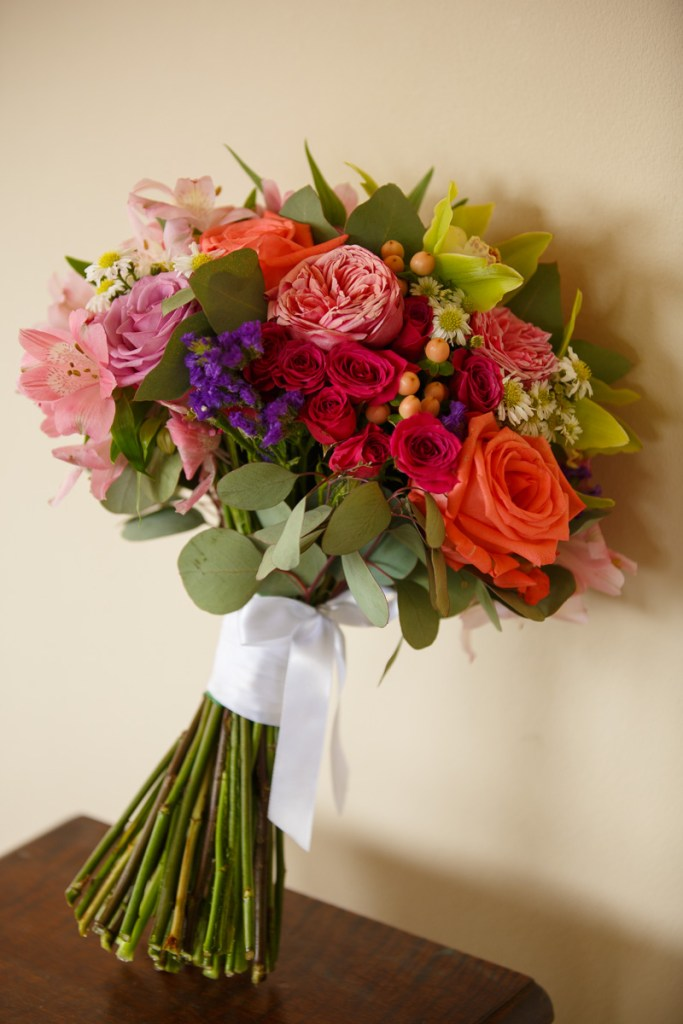 multicolor handtied bridal bouquet