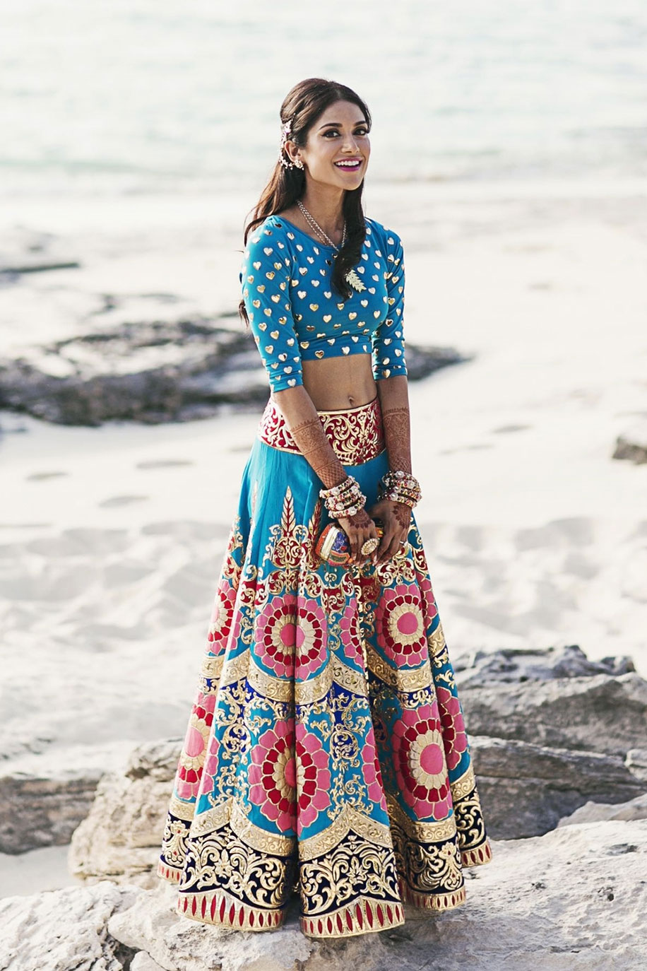 10 Breathtaking Lehengas for a Boho Inspired Wedding