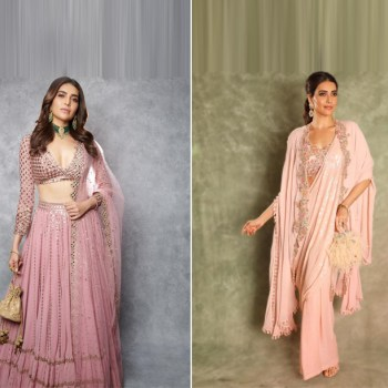 Karishma Tanna delivers two stunning looks in pink, perfect for mehendi parties
