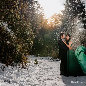 The quaint hill station of Mussoorie provided a scenic backdrop for this pre-wedding shoot.