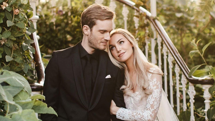 PewDiePie and Marzia Bisognin, London, UK  Celebrity Weddings