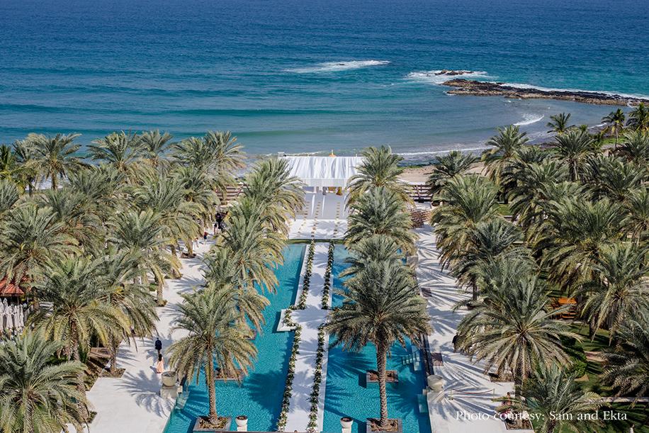 Beach wedding at Oman