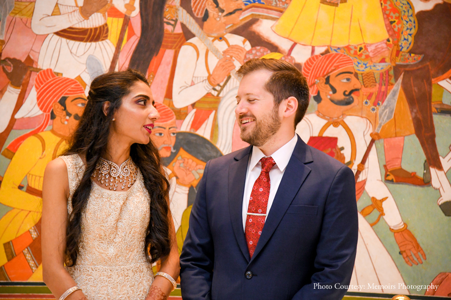 Supriya and Kyle, ITC Rajputana, A Luxury Collection Hotel, Jaipur, Rajasthan