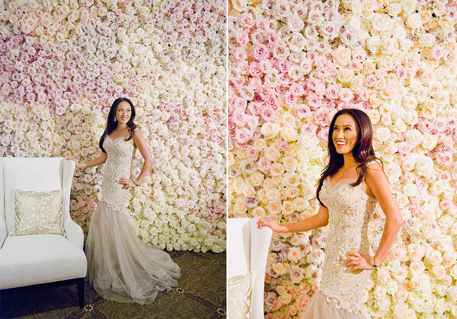 Karen Tran used the Best Roses to create walls of blooms