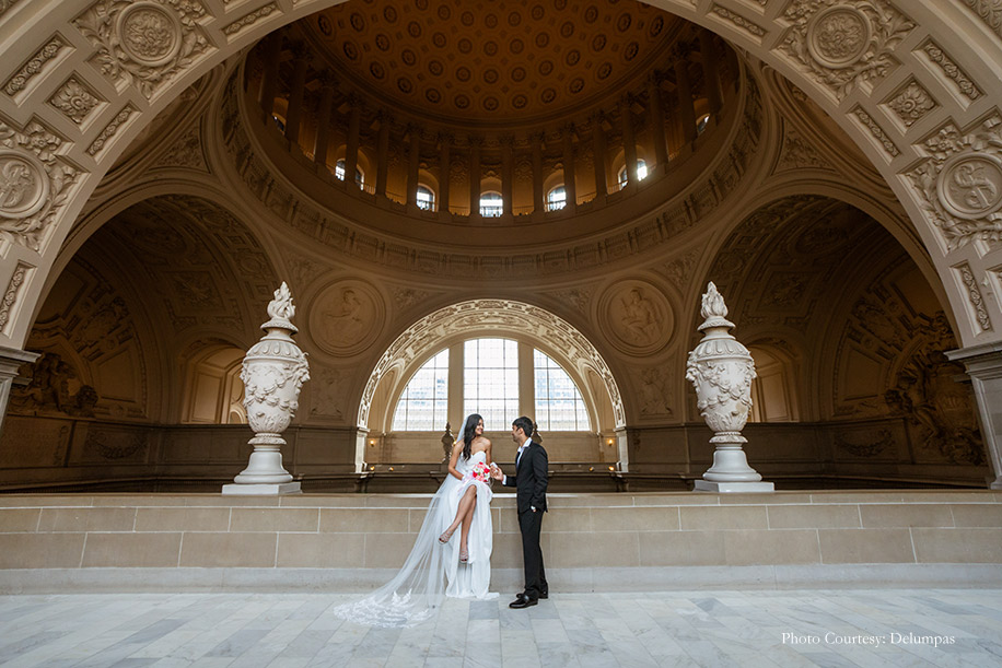 Ankita and Raj, San Francisco City Hall, US